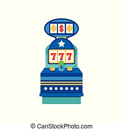 Retro casino slot machine vector Illustration on a white background