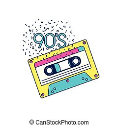 retro cassette music icon