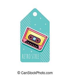 retro cassette tag