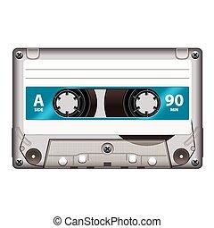 Retro cassette tape isolated on white vector