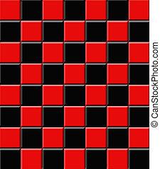 Retro Ceramic Tiles Black and Red - Ceramic tiles in retro ...