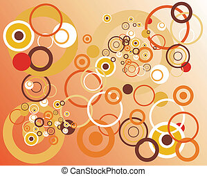 retro, cercles