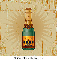 Retro Champagne Bottle