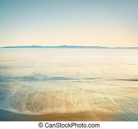 Retro Channel Crossing - The Santa Barbara channel done in...