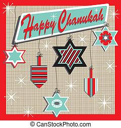 Retro Chanukah Card