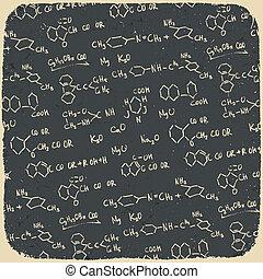 Retro chemistry background. Vector illustration, EPS10.