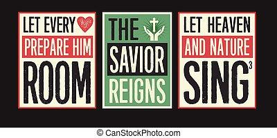 Retro Christian Christmas Card Collection