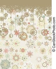 Retro Christmas background. EPS 8