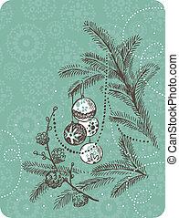 Retro Christmas background