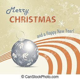 Retro Christmas card background