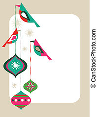 Retro Christmas card