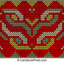 Retro Christmas knitted seamless pattern