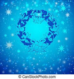 Retro Christmas wreath
