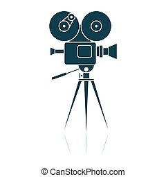 Retro Cinema Camera Icon
