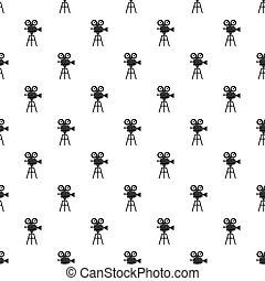 Retro cinema camera pattern, simple style