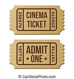Retro cinema ticket.