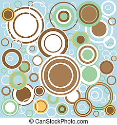 Retro Circles - A background of retrograde circles over a...
