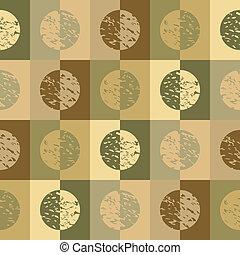 Retro circles and sq