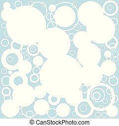 Retro Circles Background - A background of retrograde...
