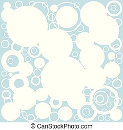 Retro Circles Background - A background of white overlapping...