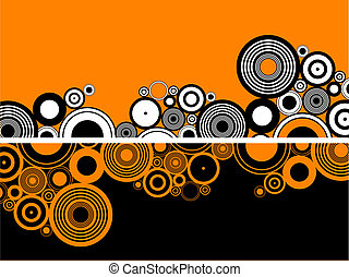 Retro circles - Retro styled abstract background