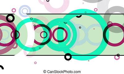 Retro Circles Multicolor Background