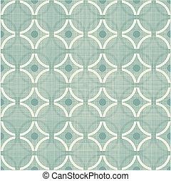 retro circles seamless pattern on blue background