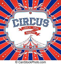 retro, circo, manifesto