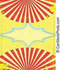 retro circus poster Vector illustrartion