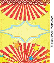 retro circus poster with stars - retro circus poster Vector...