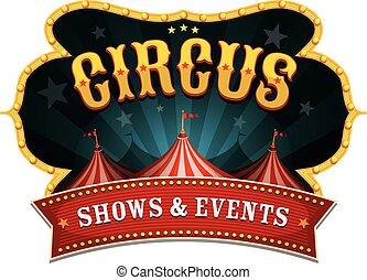 retro, circus, spandoek