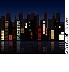 Retro City Skyline