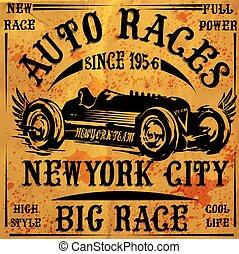 Retro Classic Car Vintage Graphic Design