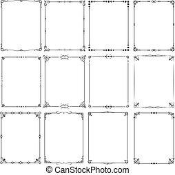 Retro classic elegant frame borders vector set for certificate and invitation design