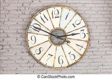 Retro clock on the wall