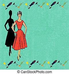 Retro Cocktail Menu - Background illustration for a cocktail...
