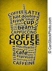 Retro Coffee Ad Background