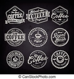 coffee shop label - Retro coffee shop label design isolated...