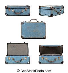 retro, collezione, valigia