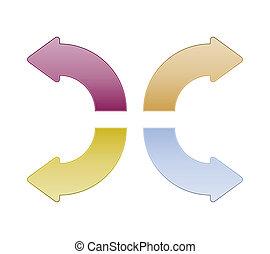 Retro color arrows