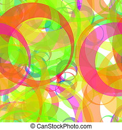 Retro color circle pattern abstract background design...