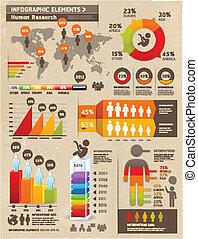Retro Color Infographics Elements