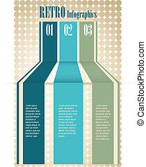 Retro Color Infographics Number Opt