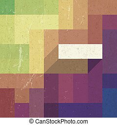 Retro colorful rectangles background, vector