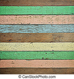 Retro colorful wood texture