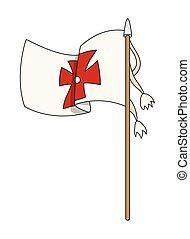 Columbus Day Flag Vector