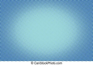 retro comic blue background raster gradient halftone pop art...