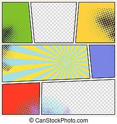 Retro Comic Book Vector Background