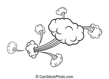 Retro Comic Clouds Graphic