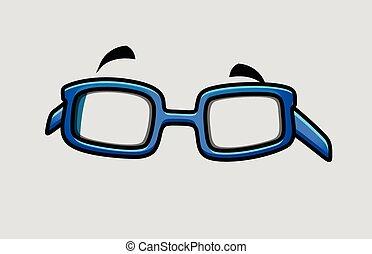 Retro Comic Glasses Vector Object Clip-Art